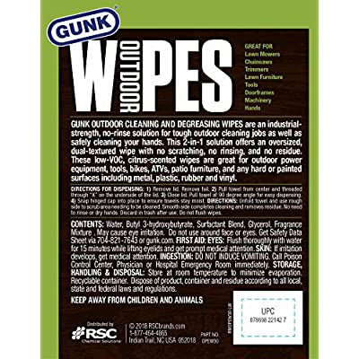 Gunk OPEW30-6PK Wipes 30-Count (6 Pack): Automotive