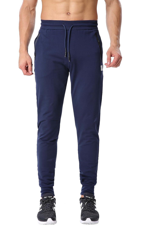 ChinfunメンズTapered Athletic (Non-Fleece) Running PantsスリムフィットClose (Non-Fleece) Bottom Jogger 33