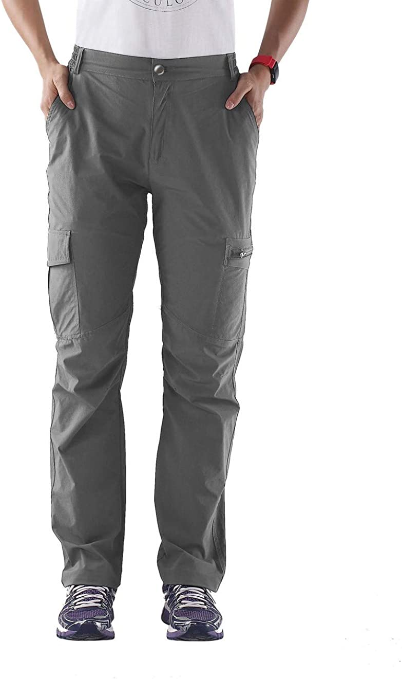 Nonwe Womens Outdoor Water-Resistant Quick Drying Lightweight Cargo Pants