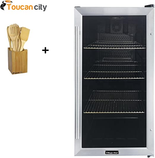 Magic Chef 3.1 cu Mini Refrigerator in Stainless Look Stainless Steel ft