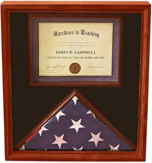 product image for 3x5 Flag Display Case with Certificate & Document Holder Big Frame
