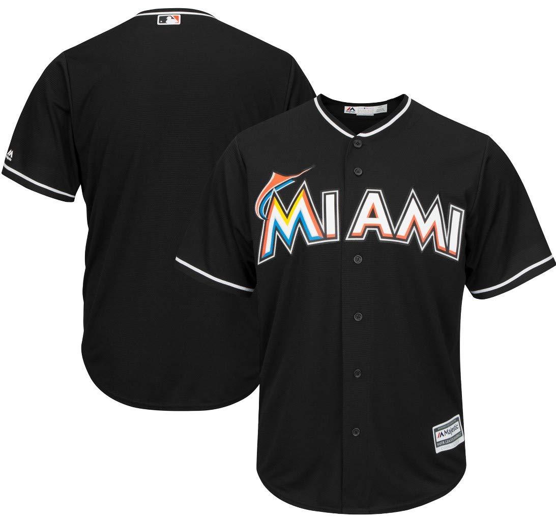 4d10aa3c903 Amazon.com   Majestic Miami Marlins MLB Mens Black Cool Base Replica Jersey  Big   Tall Sizes   Sports   Outdoors