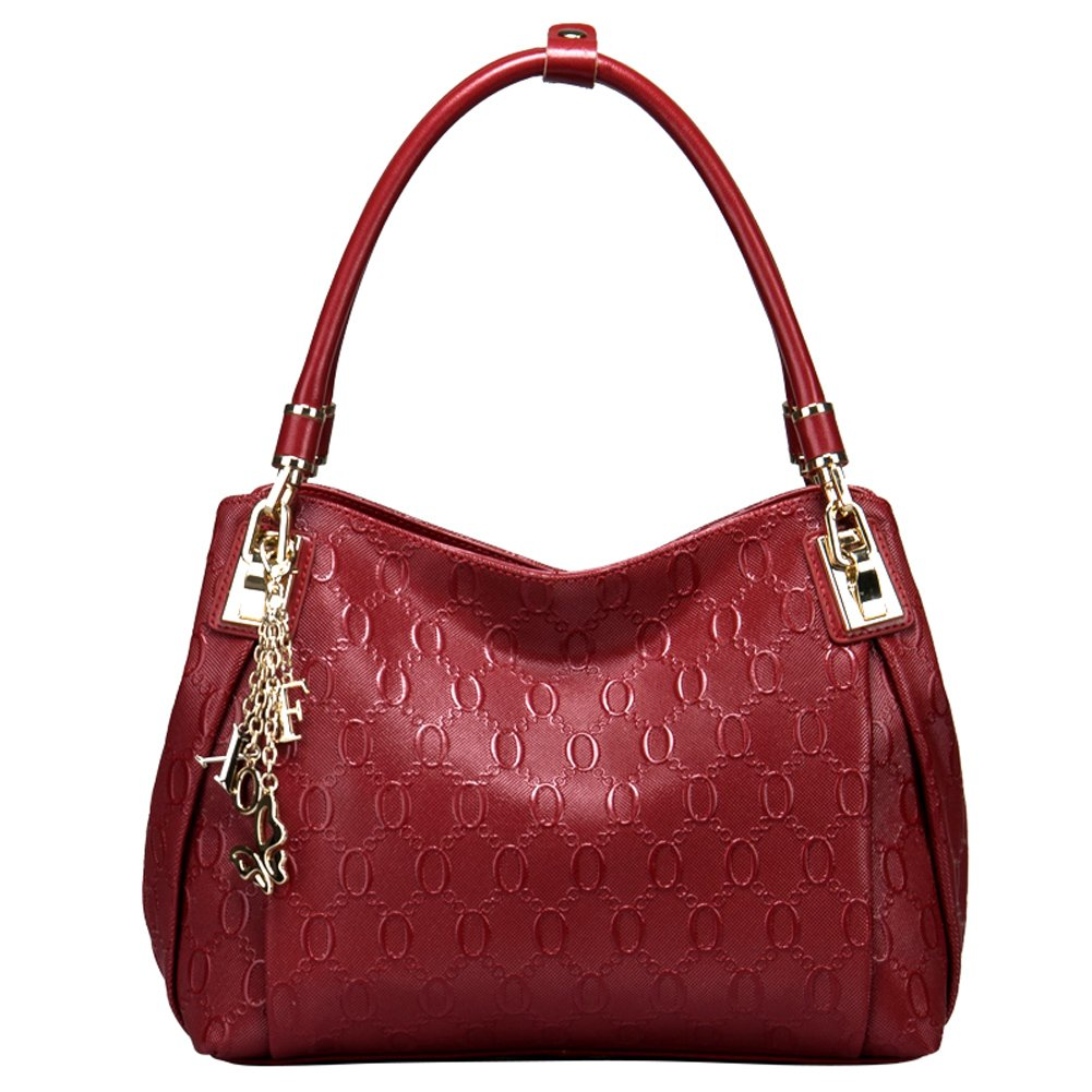FOXER   新入荷バッグ  欧米風 女性用 レディースバッグ レザ- ハンドバッグ トートバッグ 通勤バッグ  938001-2 (  クラレット) [並行輸入品] B015CB1P7S クラレット クラレット