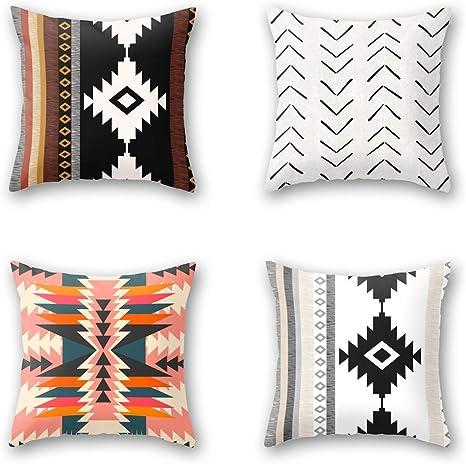 Cotton Linen Throw Pillowcase National Style Car Sofa Cushion Cover Home Decor