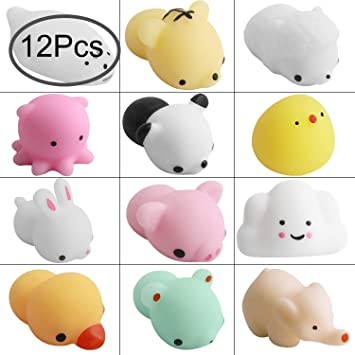 Defrsk 12 PC Mochi Squishy Toys Squeeze Stress Relief ...