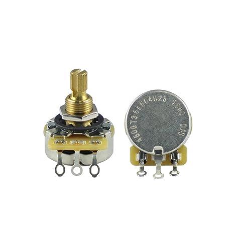 CTS 1pcs A500 K latón Split Shaft (Audio Taper potenciómetro de volumen/tono para