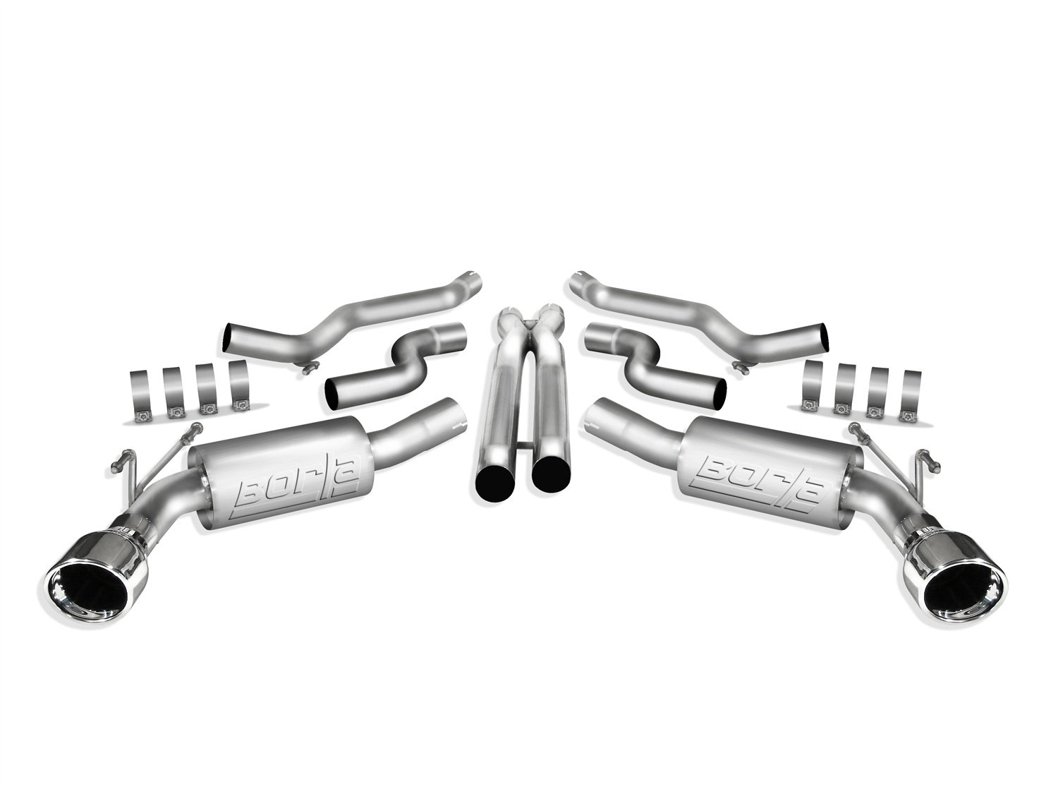 Borla ATAK Stainless Steel Aggressive Cat-Back Exhaust System}