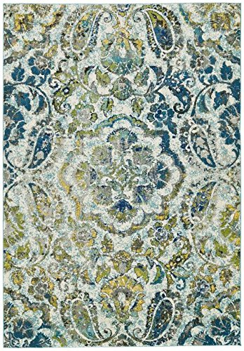 Feizy Rugs Brixton Collection Imported Area Rug, 5' x 8', Azure