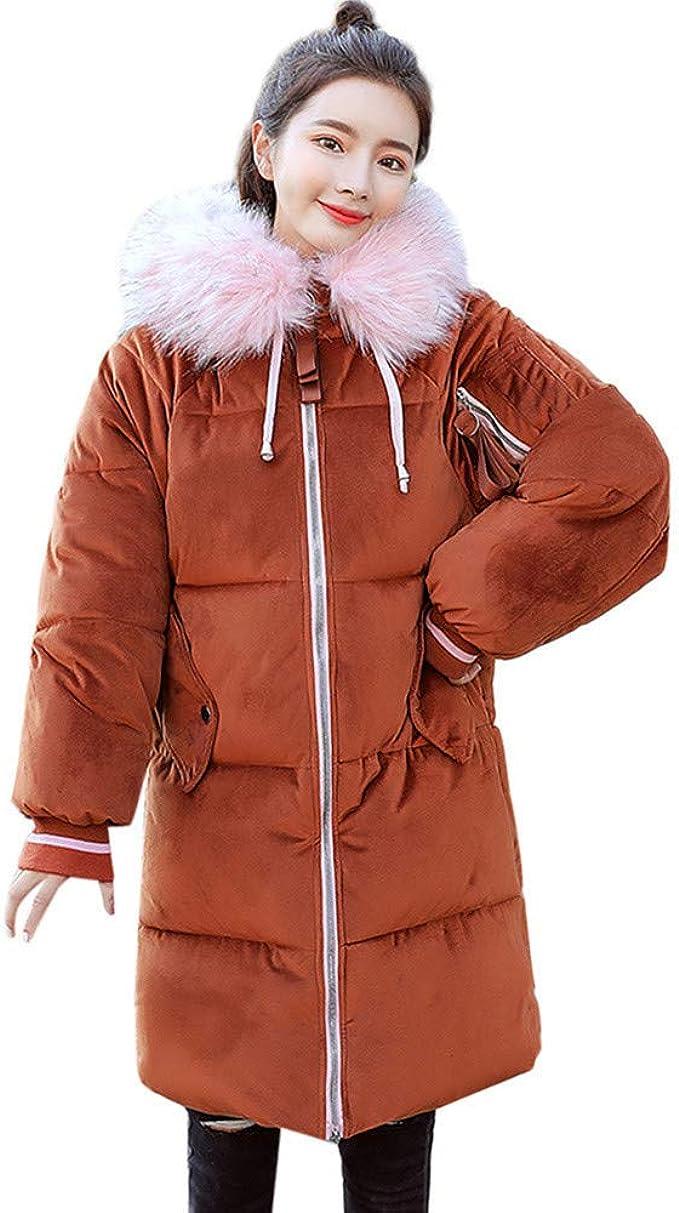 Damen Oberbekleidung Cord Lange Baumwoll gefütterte Jacken