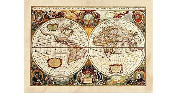 Amazoncom 1art1 World Maps Poster Photo Wallpaper Historical Map