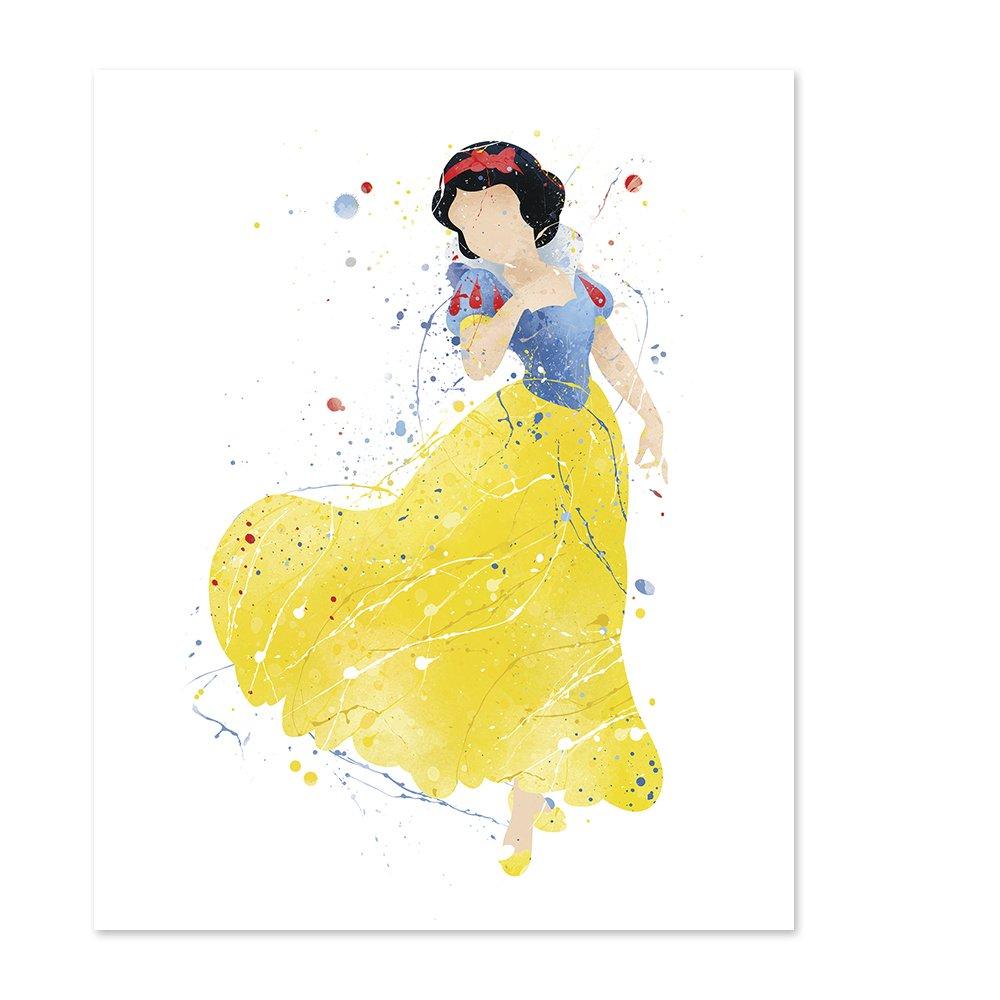 Amazon.com: Princess Wall Decor Poster Art Prints - 8x10 Watercolor ...