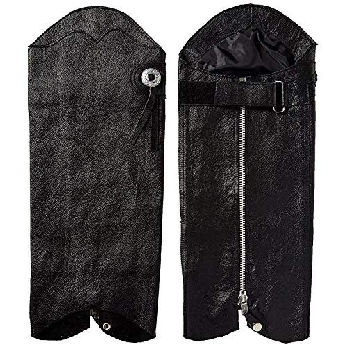 First Manufacturing Unisex Half Chaps (Black, Medium/Large) by First Mfg Co (Image #1)
