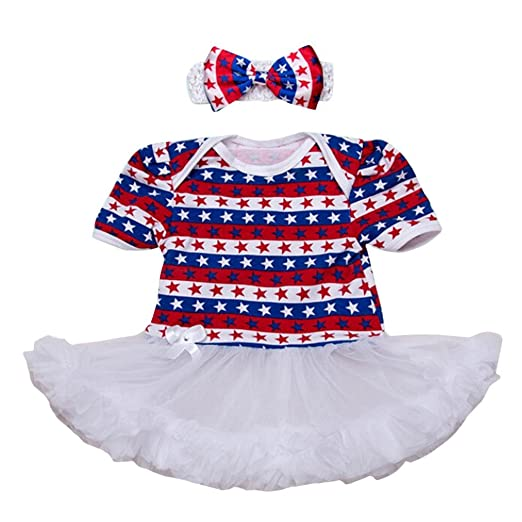 ShiTou Girls Dress&&American Star Headband+Dress Party Dress//Princess Dress (