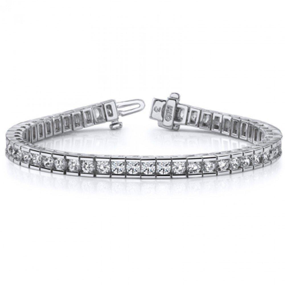 4.00 ct Ladies Round Cut Diamond Tennis Bracelet In Channel Setting