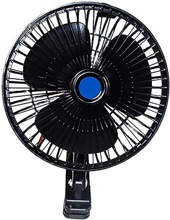 12V Mini ventilador eléctrico del coche que refresca el ventilador portátil del clip, 10 pulgadas Enchufe del coche del verano Juego Ventilador del aire acondicionado Auto de enfriamiento oscilante: Amazon.es: Hogar