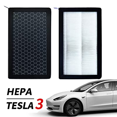 XTechnor Tesla Model 3 Air Filter HEPA 2 Pack with Activated Carbon Tesla Air Conditional Replacement Cabin Air Filters…: Automotive
