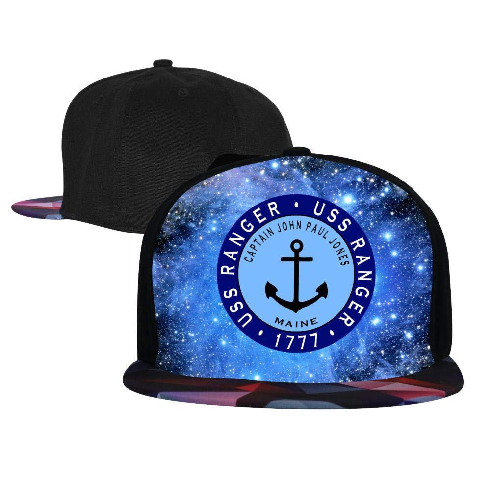EUYK77 USS Ranger Mens and Womens Trucker Hats Adjustable Hip Hop Flat-Mouthed Baseball Caps