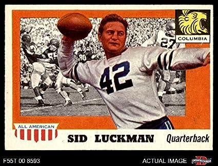 1955 Topps   85 Sid Luckman Chicago Bears (Football Card) Dean s Cards 5 - 01c847af8