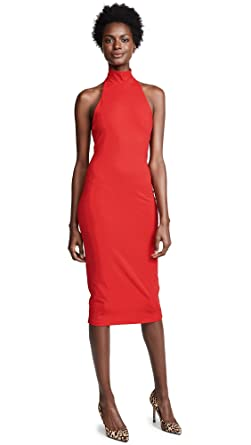 bec54f9fe9f06 Amazon.com  Susana Monaco Women s High Neck Halter Dress  Clothing