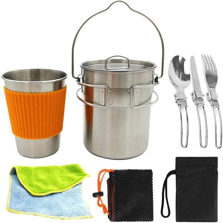 LIOOBO Juego de Utensilios de Cocina al Aire Libre Camping ...