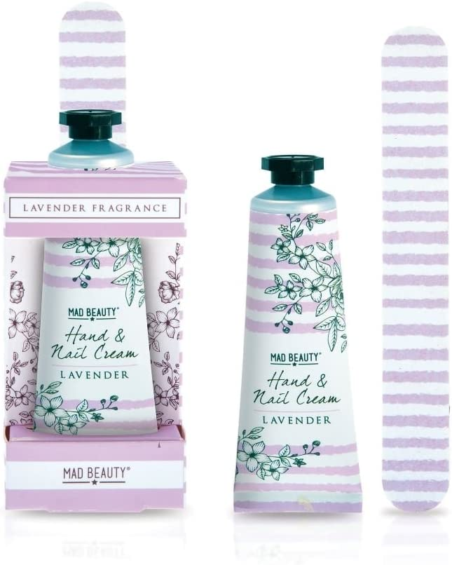 Mad Beauty Lavender Hand Cream and Nail File Gift Set, 30ml