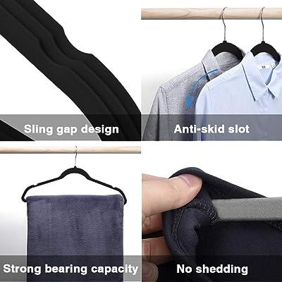 Wide Shoulder Thick Hanger Black Plastic Anti Slip Luxury Man Coat Hangers 8Pcs