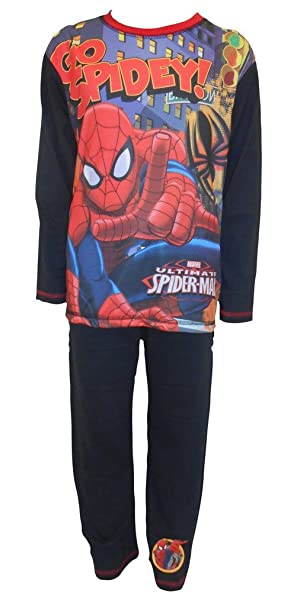 Niños Niños Superhéroe Marvel Ultimate Spiderman Ir Spidey pijama pijamas (4-5 años)