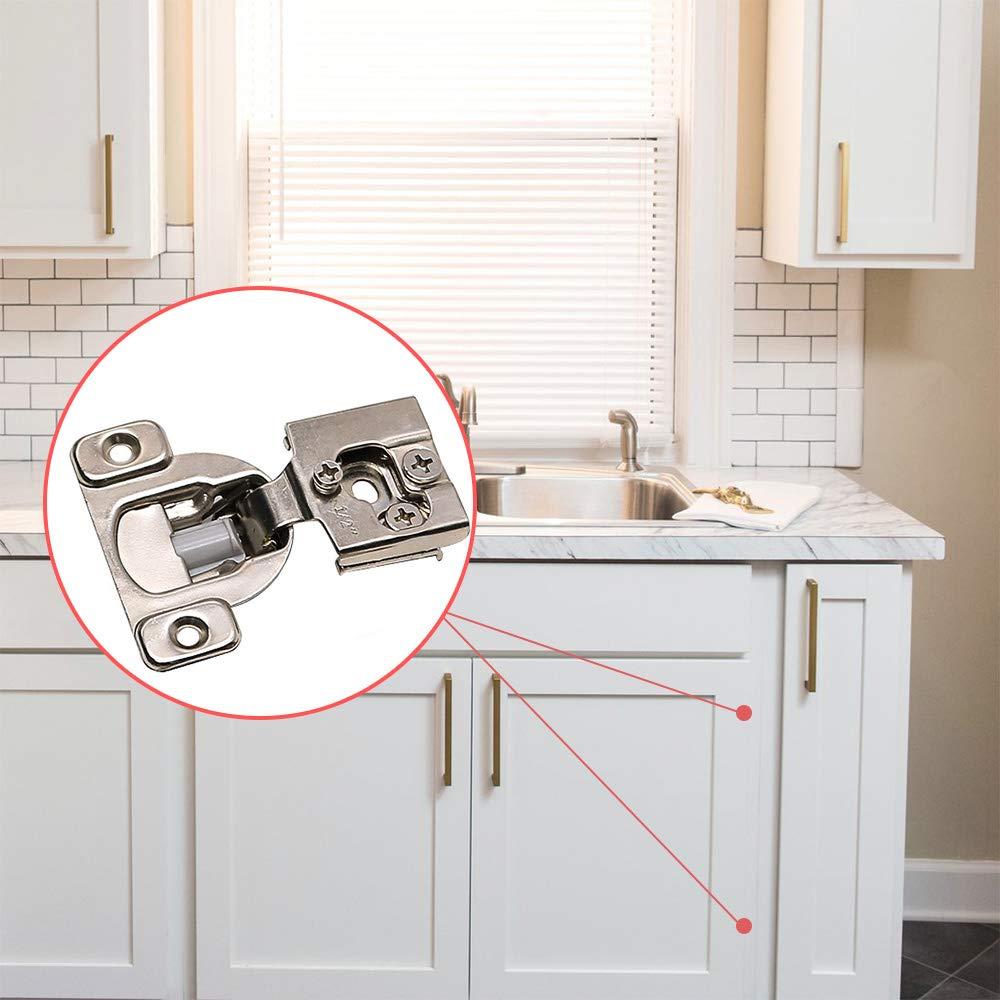 goldenwarm 10 Pack Face Frame Concealed Cabinet Hinges 1-1//4 Overlay Soft Close Hinge Adjustment Cabinet Door Hinges Quiet Close Cabinet Hardware