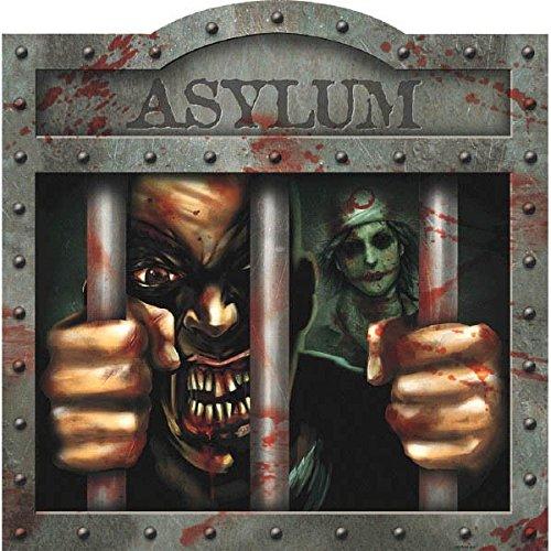 amscan Haunted Asylum Halloween Crazy Patient Cutout Decoration, 15