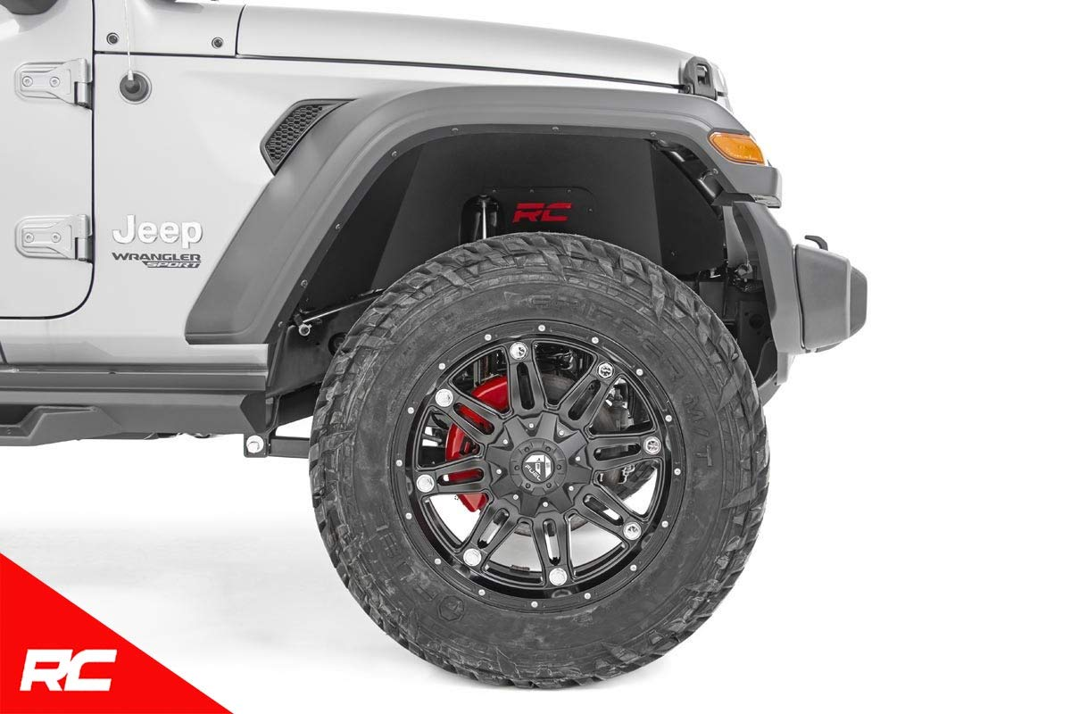 Rough Country Front Inner Fenders Compatible w// 2018-2019 Jeep Wrangler JL Inner Fender Armor Protection 10497