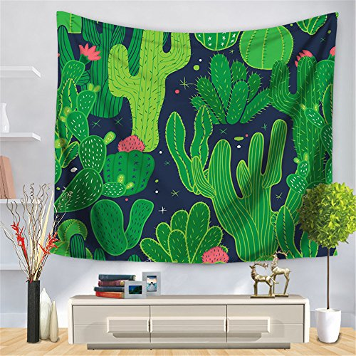 Modern Rectangle Digital Printing Tapestry,Fashion Cactus Beach Towel Cushion,Picnic Tablecloth,Living Room Bedroom Decorations 59x52inch,B