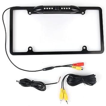Car Auto Waterproof License Plate Mount Rear View Backup Camera IR Night Vision
