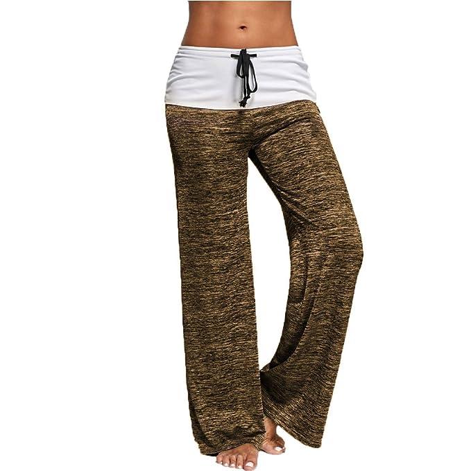 Pantalones de Yoga para Mujer, Pantalon Palazzo Harem ...