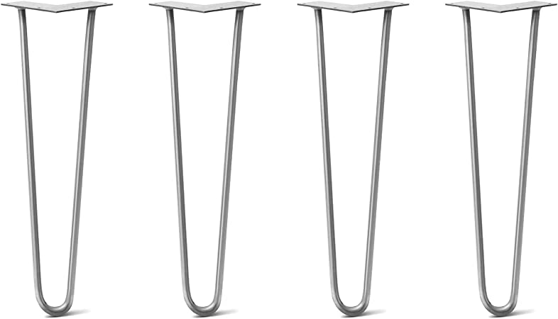 All Sizes STAINLESS Metal Table Legs USA Made New Hairpin Legs Set of 4