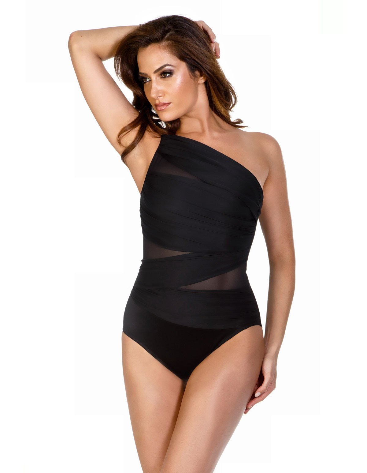 Miraclesuit Women's Network Jena One-Piece Black 12 by Miraclesuit
