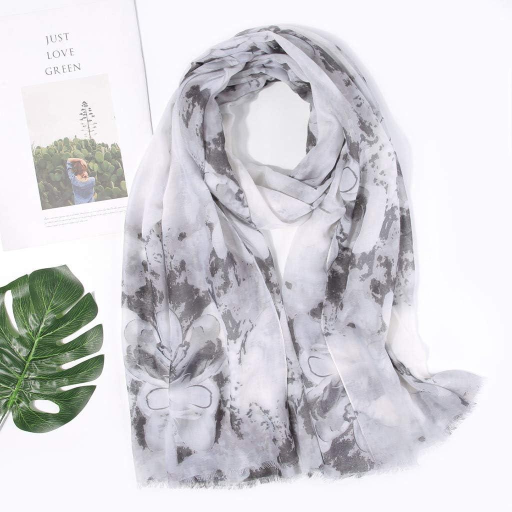 kolila Damen Chiffon Schal Sale Ausverkauf Damen L/ässig gedruckt Winter Warm Soft Wrap T/ücher Schals Stolen Schals