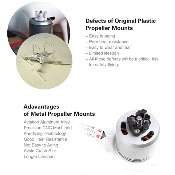 Sharplace Soporte de Base de Montaje Soporte de 4 Hélices Metálicas Para Dji Phantom 4 Color Negro+Blanco de Aleación de magnesio: Amazon.es: Electrónica