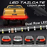 Tailgate Light Bar, Dorolla 60Inch 2-Row LED Truck Light Strip Red/White Reverse Stop