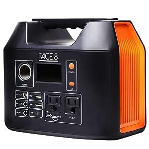 FACE8 400 407Wh AC出力300W ポータブル電源