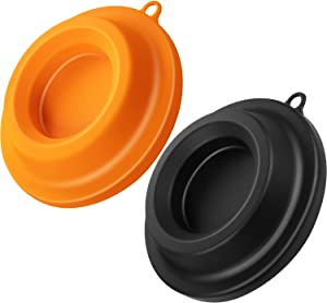 2 Pieces Silicone Lid Holders Food Lid Covers Compatible with Ninja Foodi Pressure Cooker Air Fryer 5 Qt, 6.5 Qt and 8 Quart, Black and Yellow