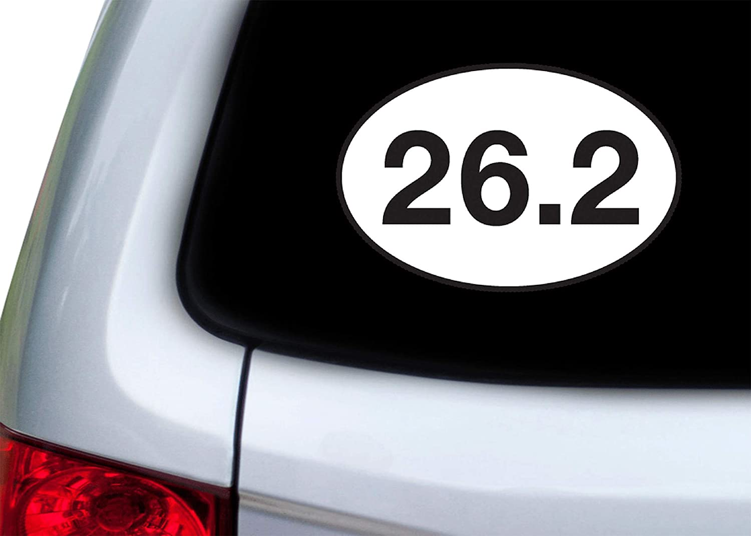 26.2 Marathon Running Sticker Bumper Sticker Oval 5 x 3 Decal Runner Track Run