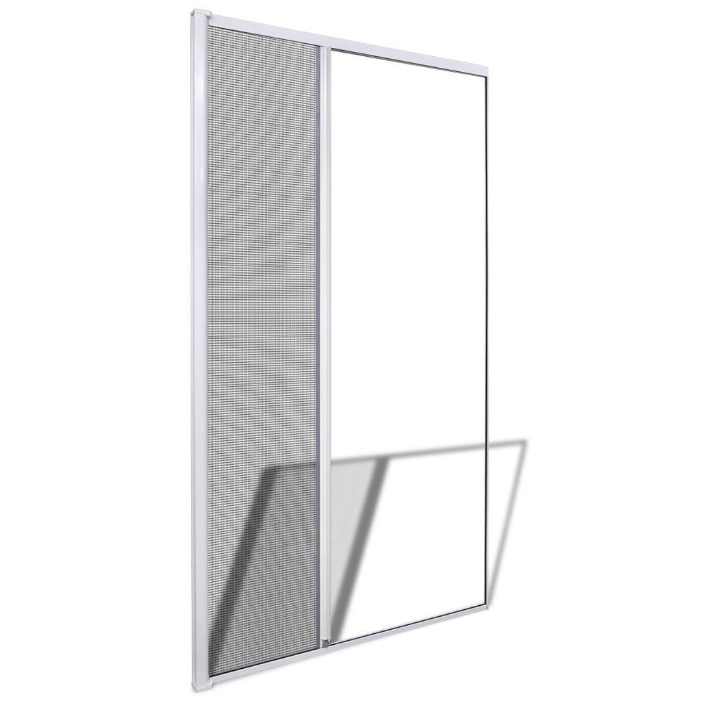 vidaXL Moustiquaire Coulissante Blanc pour Porte 120x215 cm Protection