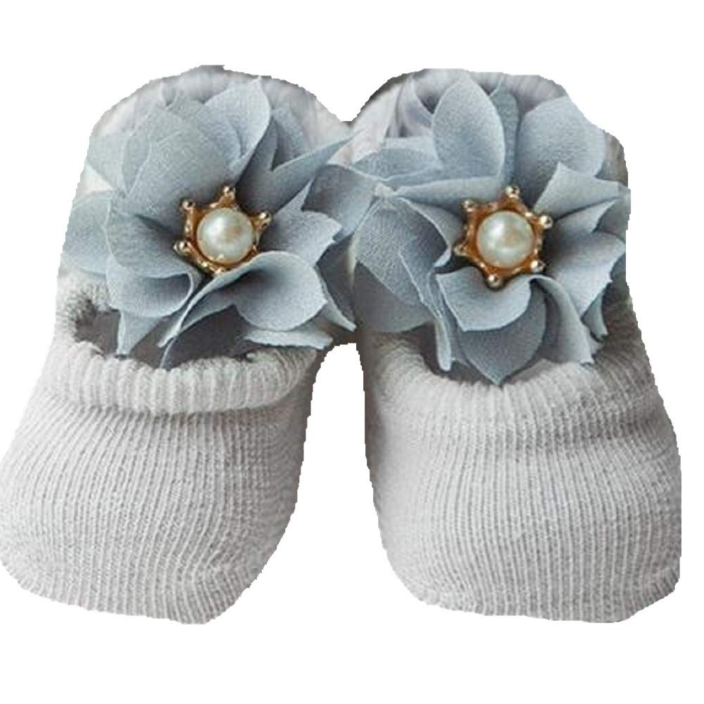 JZTRADING Kids Baby Toddler Socks For Boys Girls Premature Winter Newborn 0-1 Years Fluffy Frilly Baby Socks Khaki 3 Pairs