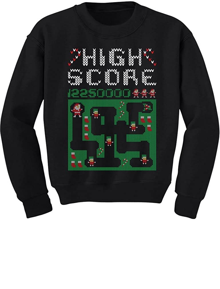 TeeStars Retro 80s Digger Santa Video Game Ugly Christmas SweaterYouth Kids Sweatshirt Large Black GhPh3PagfmPlfm9B