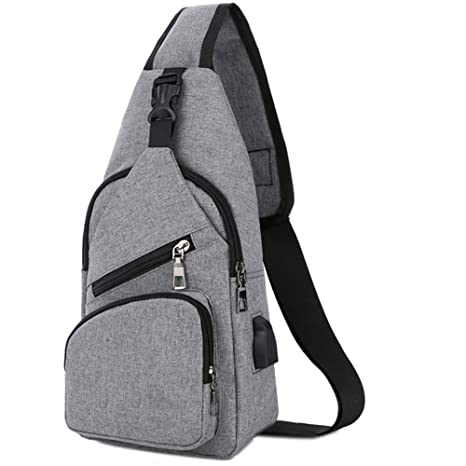28e097cb7158 BXYIZU Sling Bag Shoulder Crossbody Chest Bags Lightweight Outdoor Sport  Travel Backpack Daypack for Men Women