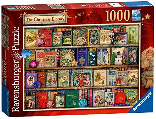 Ravensburger The Christmas Library, 1000pc Jigsaw Puzzle (Ravensburger Jigsaw Puzzles Christmas)