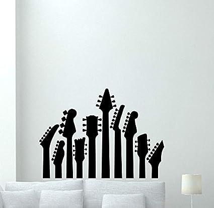 Amazoncom Guitars Wall Decal Music Studio Vinyl Sticker Pattern