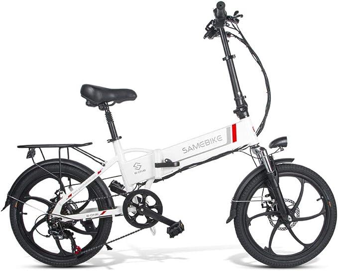 Samebike Bicicleta eléctrica Plegable de 20 Pulgadas 250 W de Alta ...
