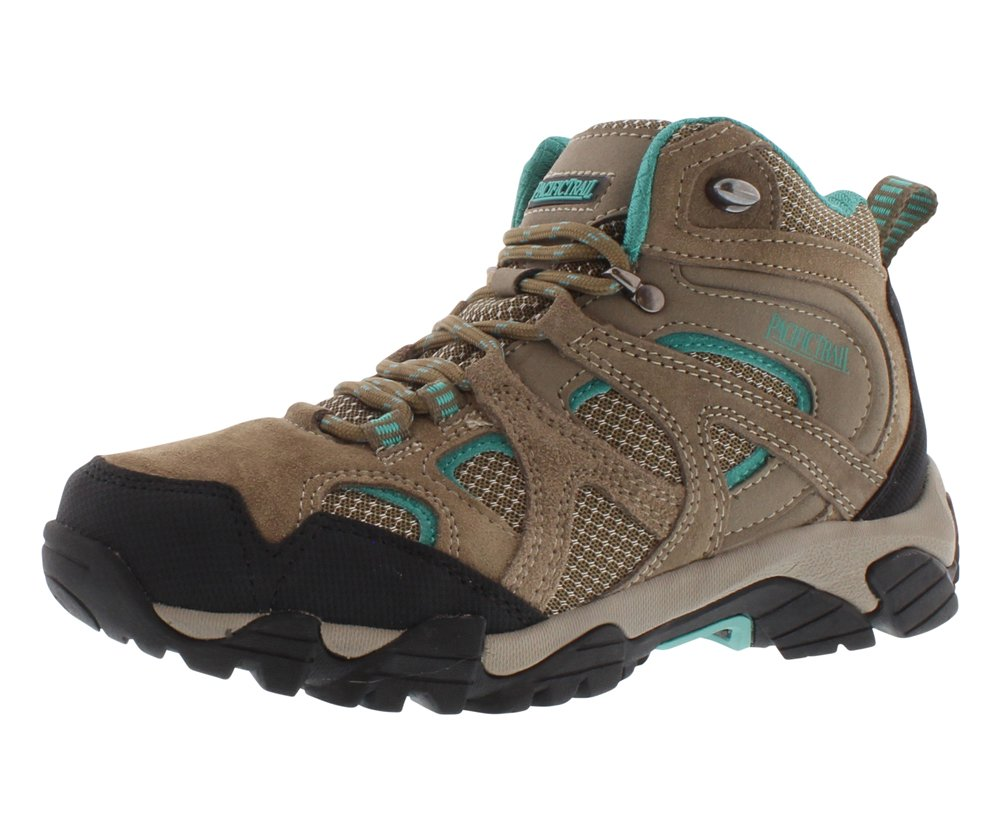 Pacific Trail Women's Diller Walking Shoe,Dark Taupe/Teal,10 M US
