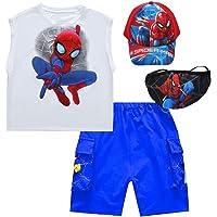 Xyh723 Conjunto De Pantalones Cortos De Camiseta para Niños Superiores De Spider-Man Ropa Pequeños Playa De Verano, 2…